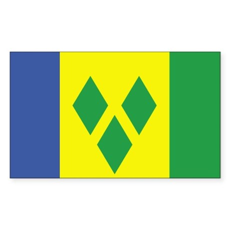 St. Vincent /Grenadines Rectangle Sticker