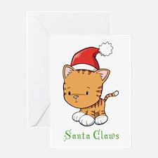 Cute Cat Christmas Greeting Card