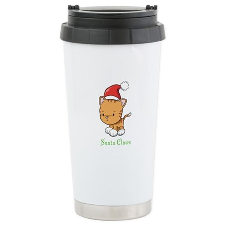 Cute Cat Christmas Stainless Steel Travel Mug