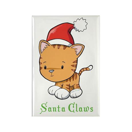 Cute Cat Christmas Rectangle Magnet