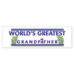 Worlds Best Mason Grandfather Bumper Bumper Sticker