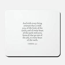 GENESIS  9:10 Mousepad