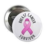 """Breast Cancer Survivor 2.25"""" Button (10 pack)"""