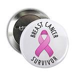 """Breast Cancer Survivor 2.25"""" Button (100 pack)"""