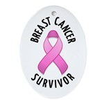 Breast Cancer Survivor Oval Ornament