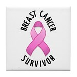 Breast Cancer Survivor Tile Coaster