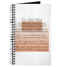 ONE LITTLE BRICK-POEM Journal