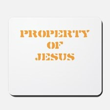 Property of Jesus - Peach Mousepad