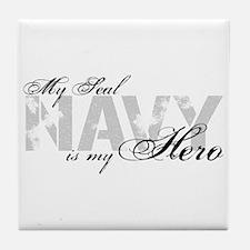 Seal is my Hero NAVY Tile Coaster
