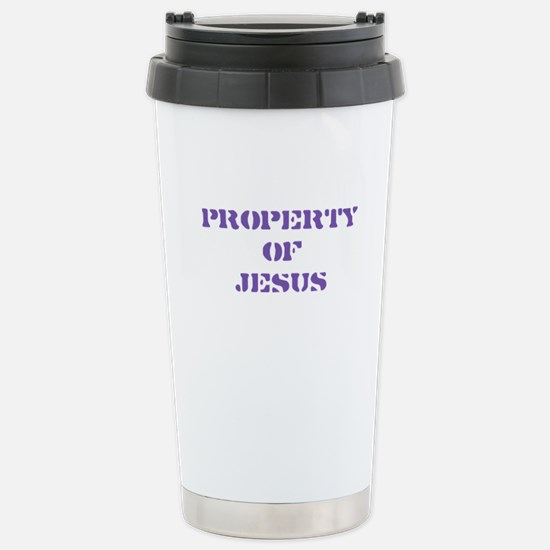 Property of Jesus - Purple Stainless Steel Travel