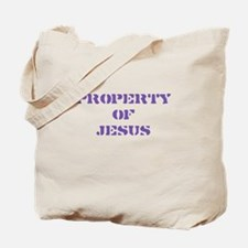 Property of Jesus - Purple Tote Bag