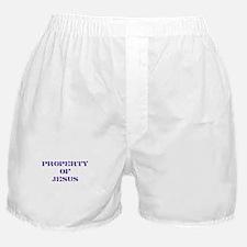 Property of Jesus - Purple Boxer Shorts