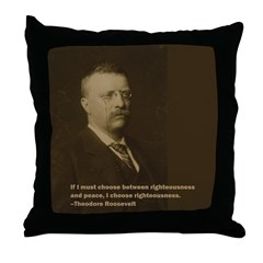 Theodore Roosevelt Quote Throw Pillow