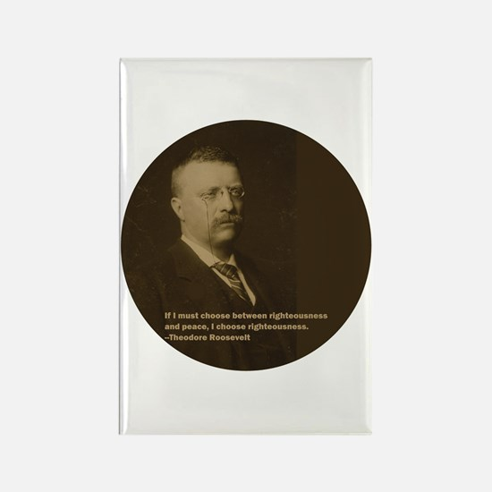 Theodore Roosevelt Quote Rectangle Magnet