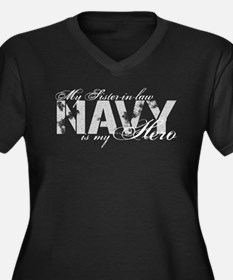 Sister-in-law is my Hero NAVY Women's Plus Size V-