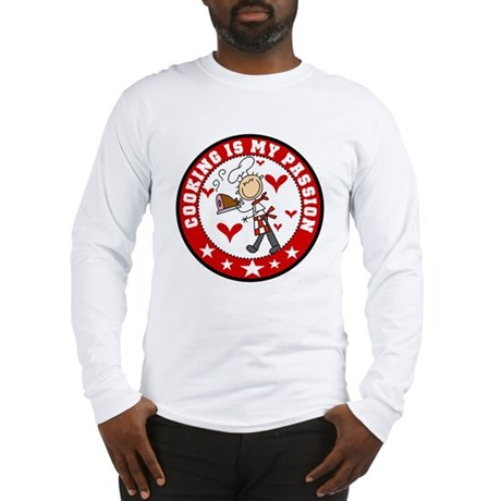Male Chef Cooking Passion Long Sleeve T-Shirt