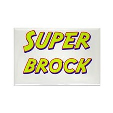 Super brock Rectangle Magnet