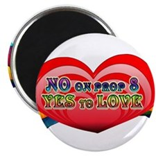 """No on Prop 8, Yes to Love 2.25"""" Magnet (100 pack)"""