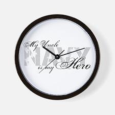 Uncle is my Hero NAVY Wall Clock