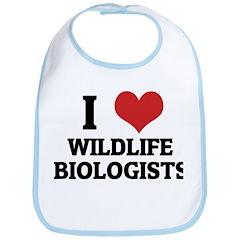 I Love Wildlife BiologistsWil Bib