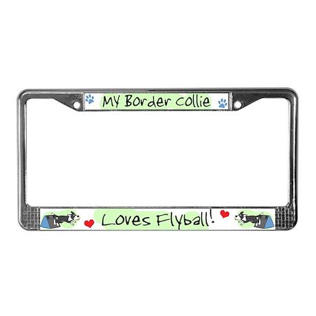 Border Collie Flyball License Plate Frame
