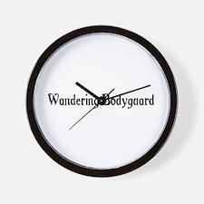 Wandering Bodyguard Wall Clock