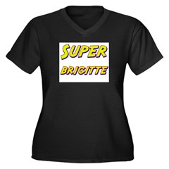Super brigitte Women's Plus Size V-Neck Dark T-Shi