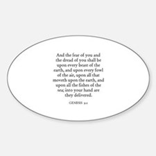 GENESIS 9:2 Oval Decal