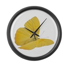 Yellow Butterfly (Bug 7) Large Wall Clock