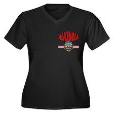 Alajuela Women's Plus Size V-Neck Dark T-Shirt