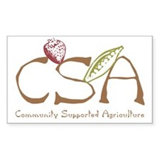 Community Agriculture Rectangle Decal