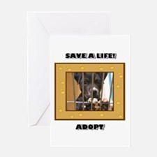 Adopt a puppy Greeting Card