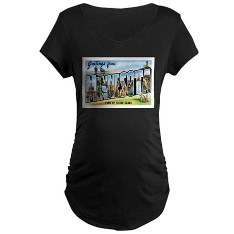 Minnesota MN Maternity Dark T-Shirt