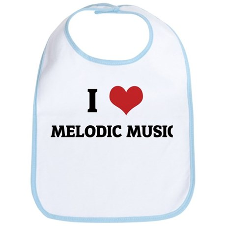 I Love Melodic Music Bib