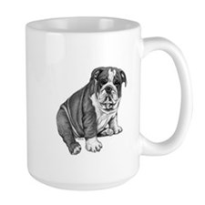 Puppy Drawing Large Mug