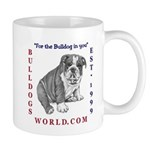 Bulldog coffee or tea Mug