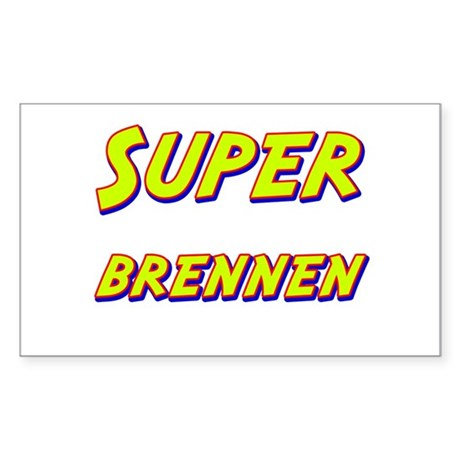 Super brennen Rectangle Sticker