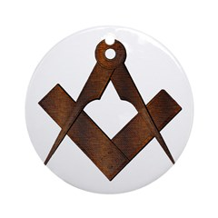 Masonic Antique Woody Ornament (Round)