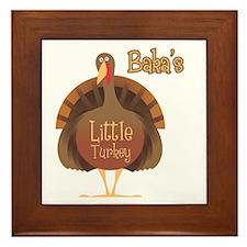 Baka's Little Turkey Framed Tile