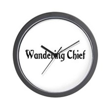 Wandering Chief Wall Clock