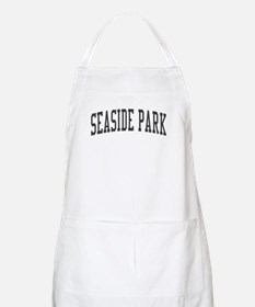 Seaside Park New Jersey NJ Black BBQ Apron