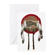 American Indian Shields Greeting Card