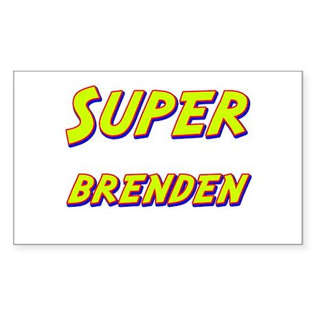 Super brenden Rectangle Sticker