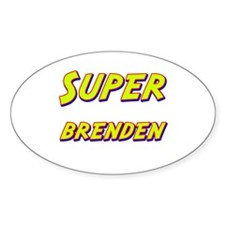 Super brenden Oval Decal