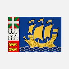 St. Pierre & Miquelon Rectangle Magnet