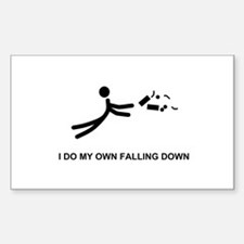I Do My Own Falling... - Rectangle Decal