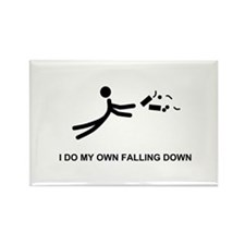 I Do My Own Falling... - Rectangle Magnet