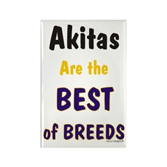 Akita Best of Breeds Rectangle Magnet (10 pack)