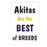 Akita Best of Breeds Postcards (Package of 8)