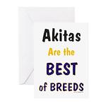 Akita Best of Breeds Greeting Cards (Pk of 10)